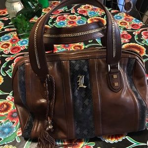 L.a.m.b. Love Capri chocolate satchel